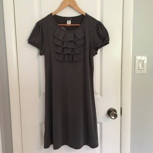 French Atmosphere Gray T-shirt Dress